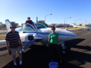 Us with our wings about to leave Birdsville.